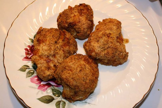 double-dipped chicken after baking