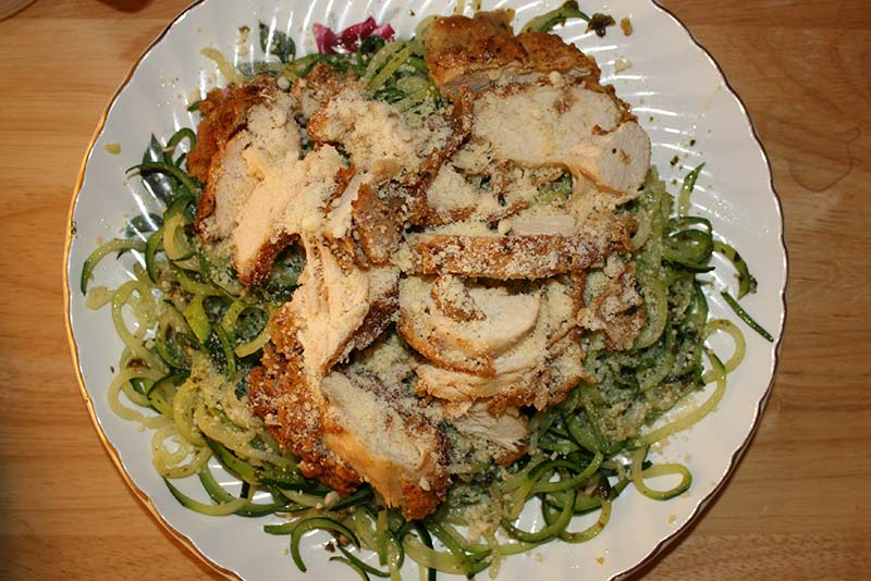 zoodles and chicken