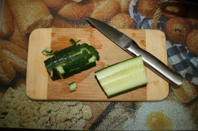 Diced English Cucumber