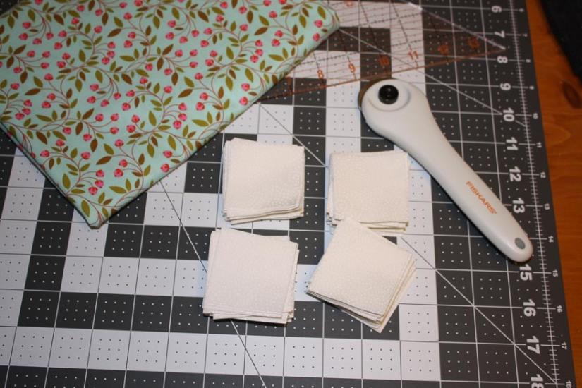 2-inch Squares in Cream