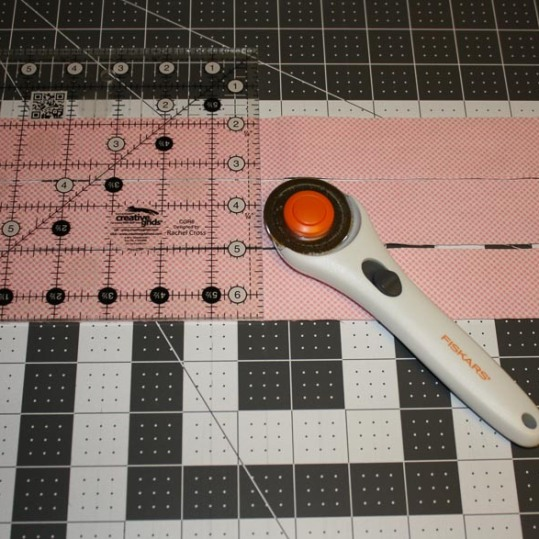 Cutting Pink Fabric