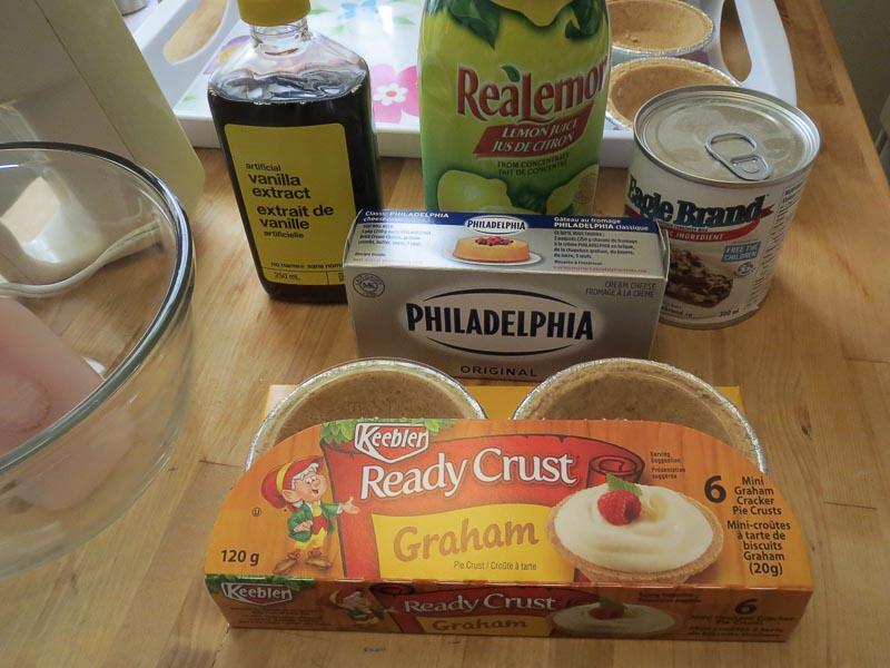 Cherry Cheese Pie Ingredients