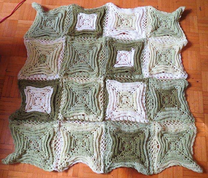 Hypnotic Tiles in Pistachio