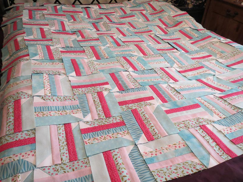 Pins and Strips Quilt in Progress