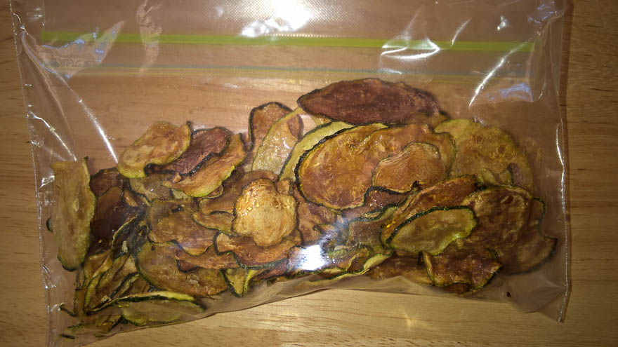 Dehydrated Zucchini Chips