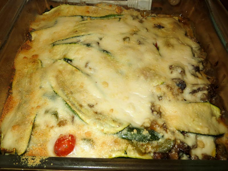 Zucchini Lasagna from the oven