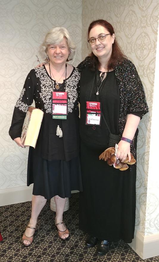 Deborah Cooke and me.