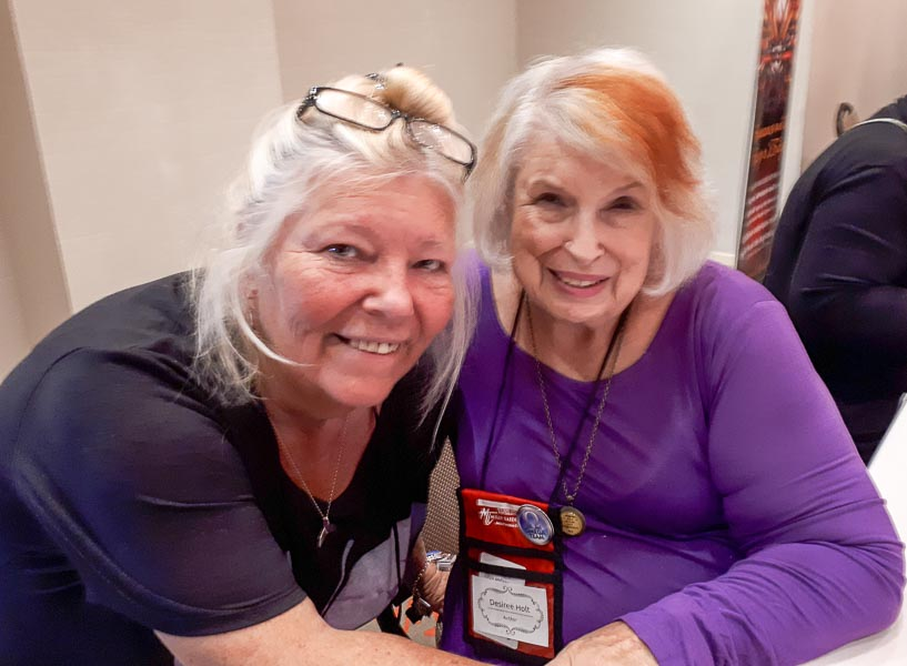 Dianne with author Desiree Holt