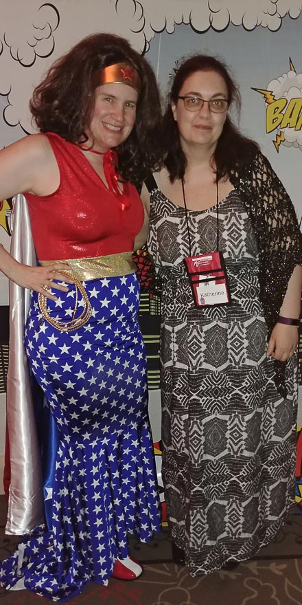 Wonder Woman (Susan Stoker) and me.