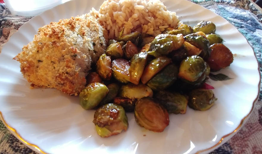 Roasted Honey Sesame Brussels Sprouts
