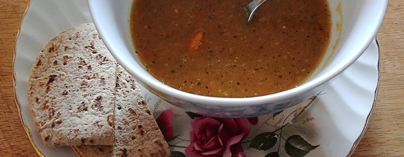 Acorn Squash Soup with Grilled Havarti Sandwich
