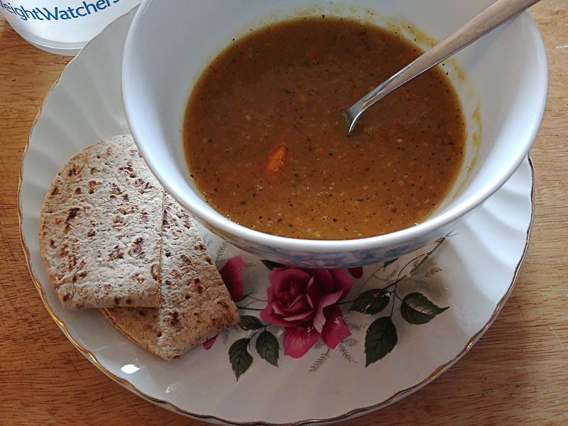 Acorn Squash Soup with Grilled Havarti Sandwich
