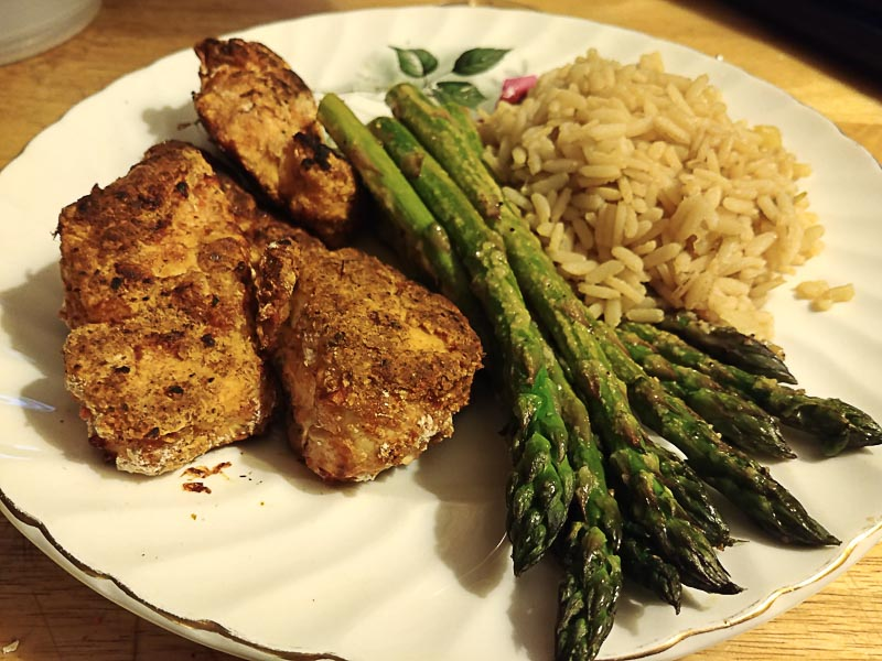Sriracha and Lime Chicken with Baked Asparagus