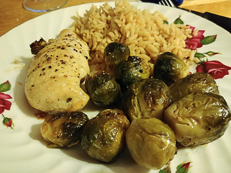 Honey Sesame Brussels Sprouts
