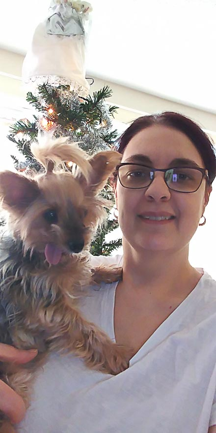 Truffles and Me on Christmas Day