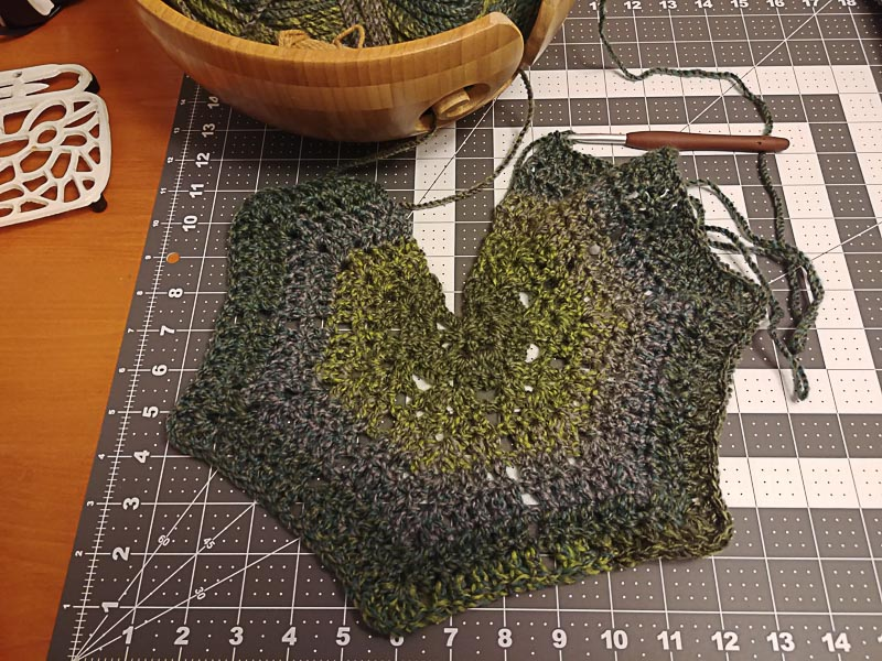 Allium Shawl Beginning