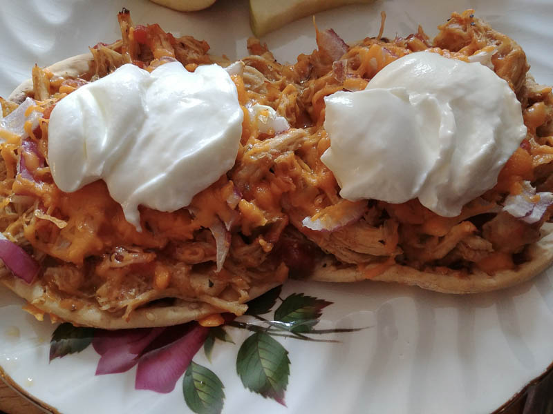 Salsa Pulled Chicken and Yogurt