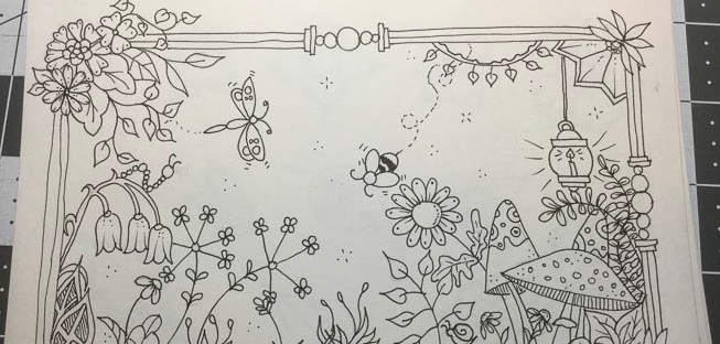 Johanna Basford style drawing